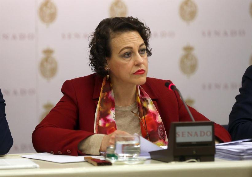 Magdalena Valeria compareció en el Senado para informar sobre la política de su Departamento.