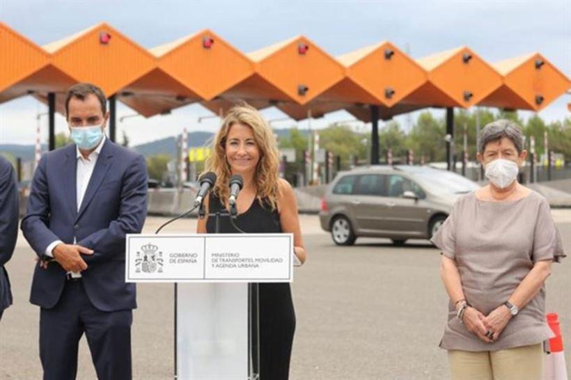 """Raquel Sánchez, ministra de Transportes, ha enmarcado la liberación de ambos peajes dentro de la """"política racional"""" del Gobierno en materia de transportes"""