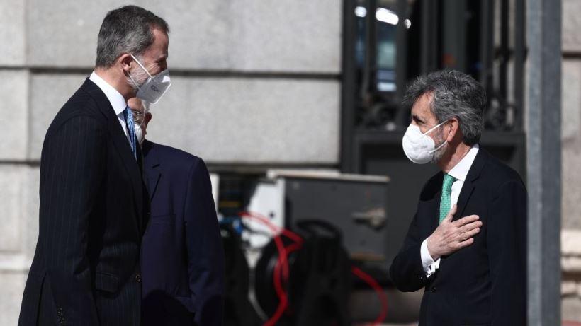 El Rey Felipe VI y el presidente del CGPJ, Carlos Lesmes, abren este lunes el curso judicial con el CGPJ caducado y con PP y PSOE enfrentados por la renovación