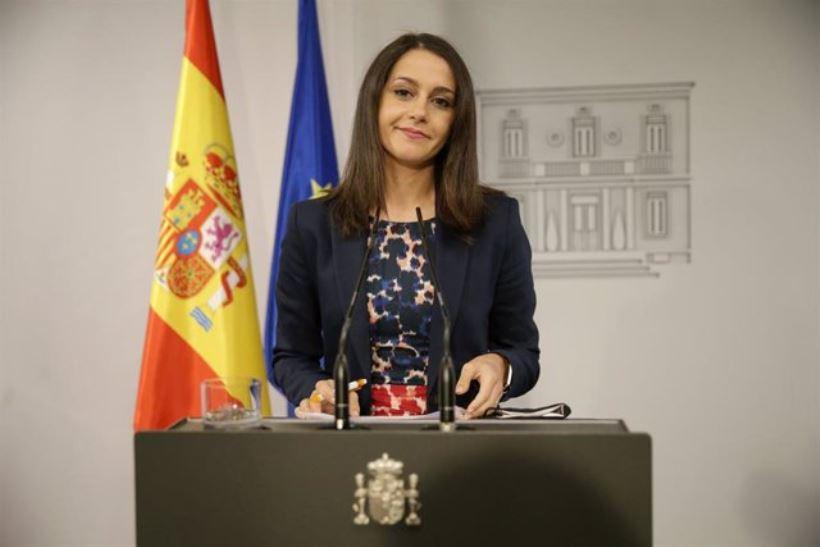 La líder de Ciudadanos respalda el Estado de Alarma decretado por el presidente del Gobierno