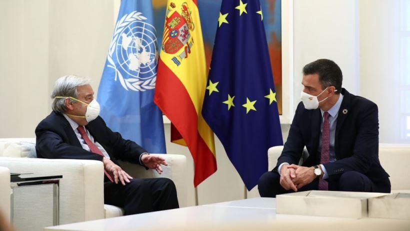 El presidente del Gobierno de España y el secretario general de Naciones Unidas se reunieron el viernes 2 de julio en La Moncloa