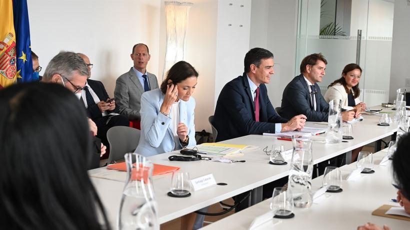 El presidente del Gobierno, Pedro Sánchez, prosigue su viaje por Nueva York, Los Ángeles y San Francisco donde está detallando a dirigentes de grandes empresas el Plan de Recuperación español.
