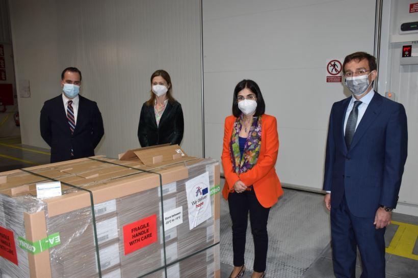 Ayer por la noche recibió las primeras 146.000 dosis de Janssen que hoy se distribuirán entre las comunidades autónomas.