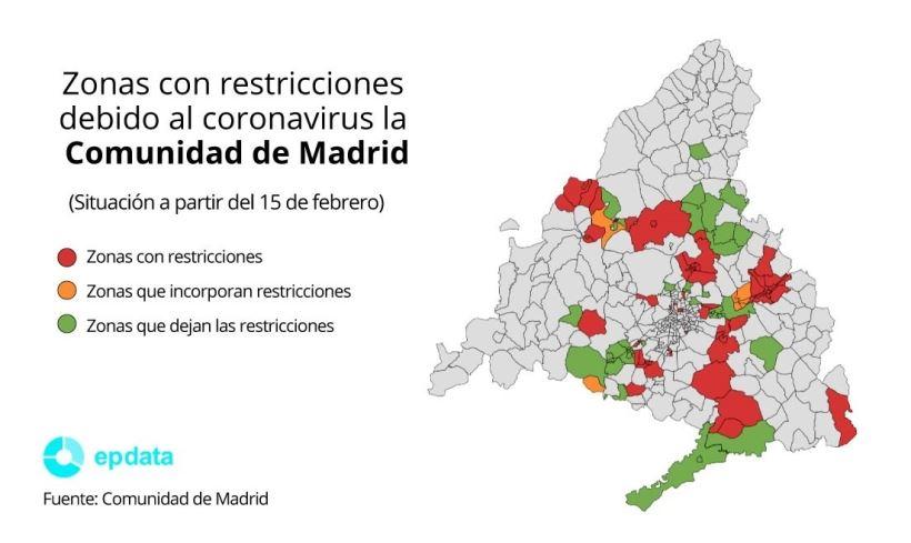 Se levantan las restricciones en 24 zonas básicas y 15 localidades